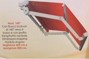 Tende da sole a doppia inclinazione TBM, TECH 140 Gold - Roma