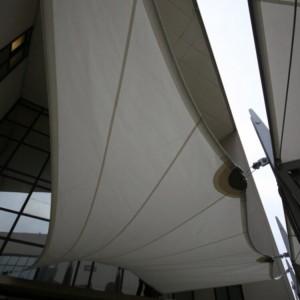 Pensiline di vetro, policarbonato, vele ombreggianti airone - Roma