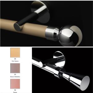 Bastoni per tende in acciaio, in ottone, in alluminio colorato su richiesta - Roma