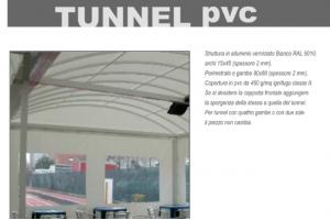 COPERTURA TIPO TUNNEL IN PVC - Roma