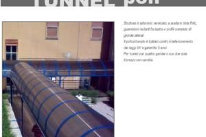 COPERTURA TIPO TUNNEL IN POLICARBONATO COMPATTO - Roma